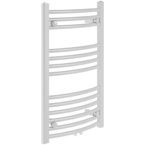 Badstuber Bari gebogen design radiator 80x60cm wit