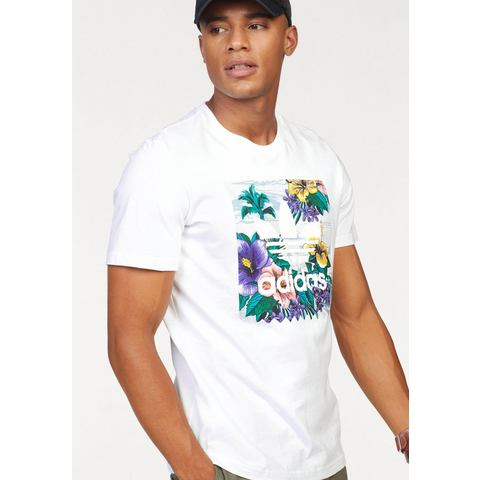 adidas originals-t-shirt BB Floral in wit