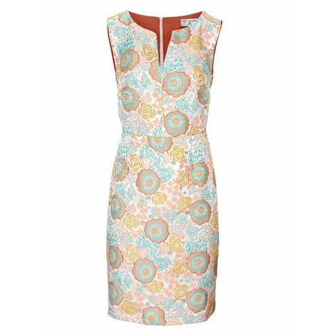 jurk met ronde hals multicolor