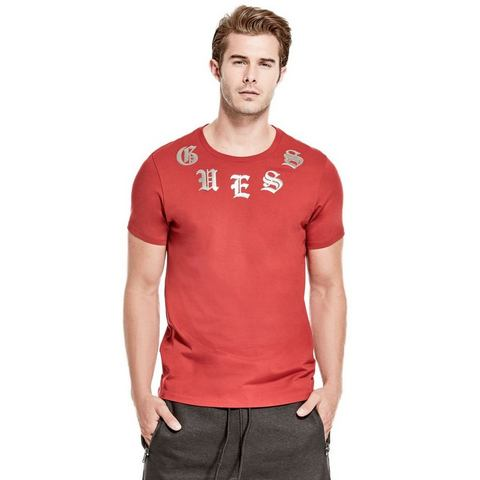 GUESS NU 15% KORTING: Guess T-shirt met logo bij de hals