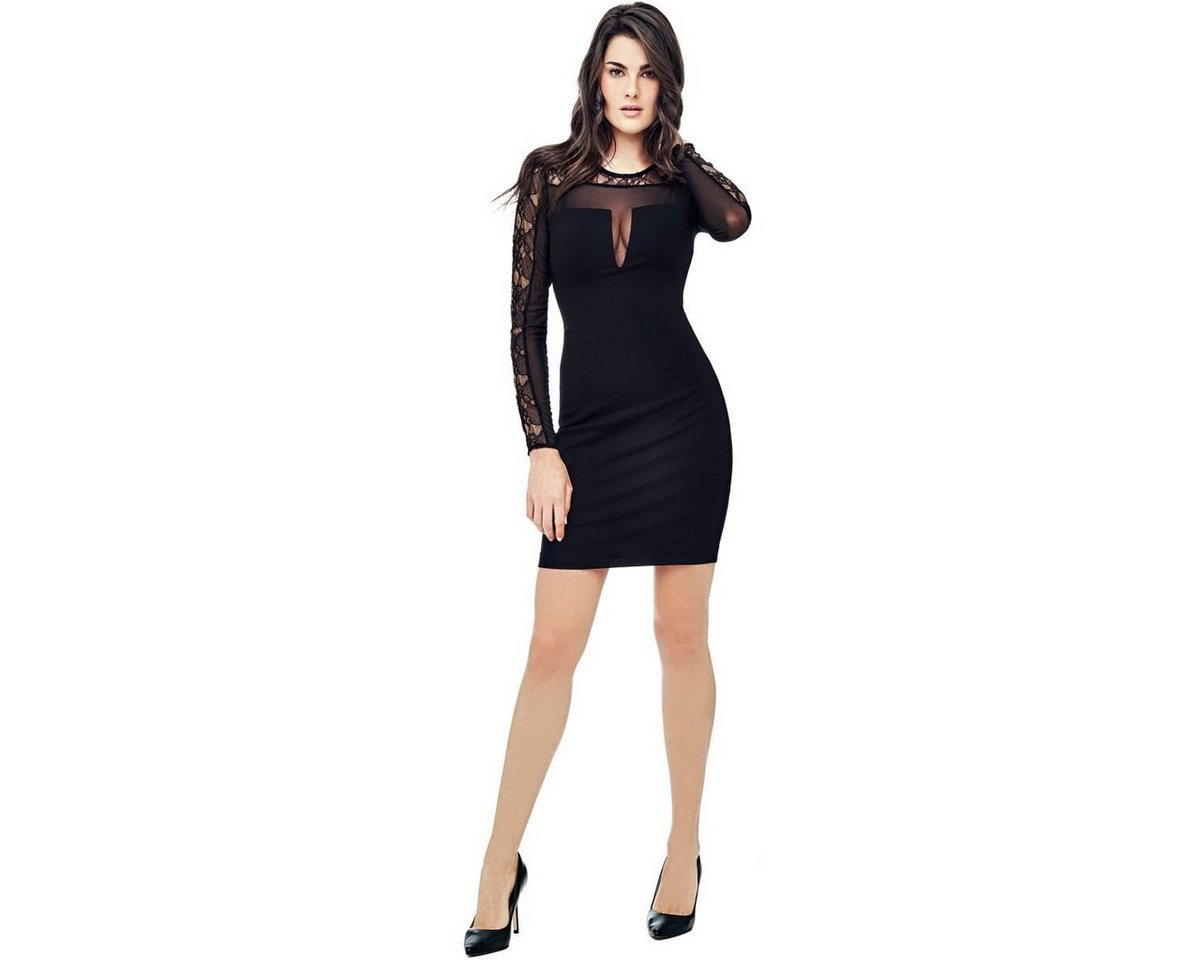 Guess jurk met details van kant zwart