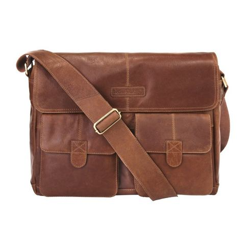 Bruno Banani leren messenger bag Message