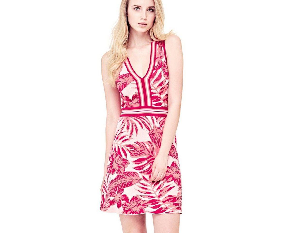 Guess jurk met natuurprint rood