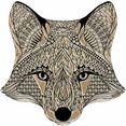wall-art wandfolie metallic fox multicolor