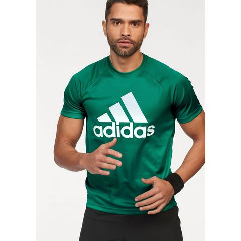 NU 20% KORTING: adidas Performance functioneel shirt D2M TEE LOGO