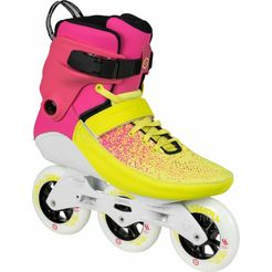 powerslide inlineskates, »swell multicolor flair 100« geel