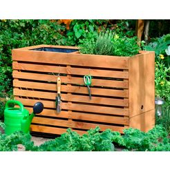 dobar hoge kweekbak »gr. xl« bxdxh: 100x50x71 cm, op wielen met 2 plantenbakken bruin