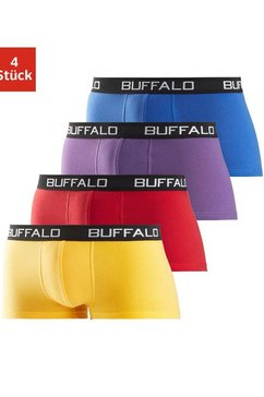 buffalo katoenen stretch-hipster (set van 4), unikleur, met contrasterende band multicolor