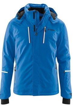 maier sports ski-jack lupus functioneel, sportief ski-jack voor echte ski-liefhebbers blauw