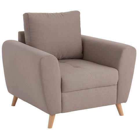 Home affaire fauteuil Jordsand met fijne stiksels op de zitting, Scandinavisch design