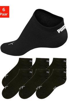 puma korte sokken met ribboorden (6 paar) zwart