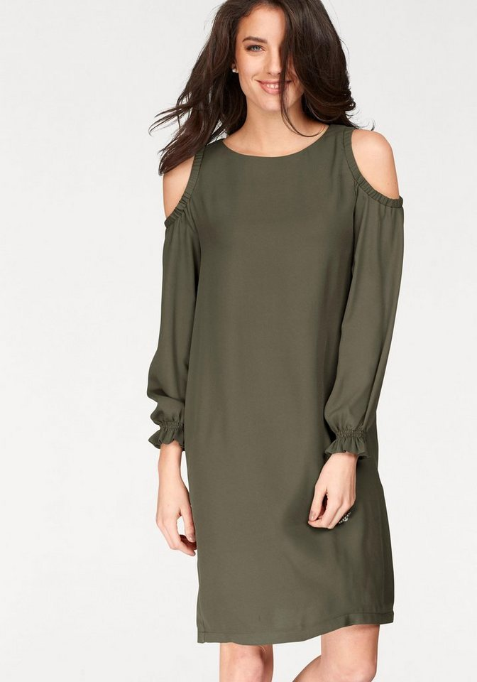 NU 21% KORTING: Aniston party-jurk groen