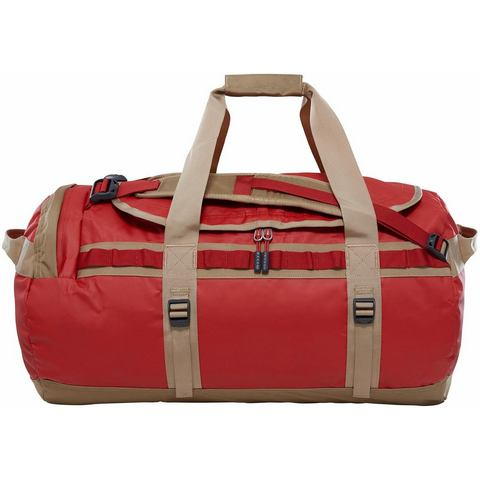 The North Face Base Camp Duffel M Bossa Nova Red-Kelp Tan