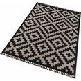 vloerkleed, »stockholm«, freundin home collection, rechthoekig, hoogte 3 mm, machinaal geweven zwart