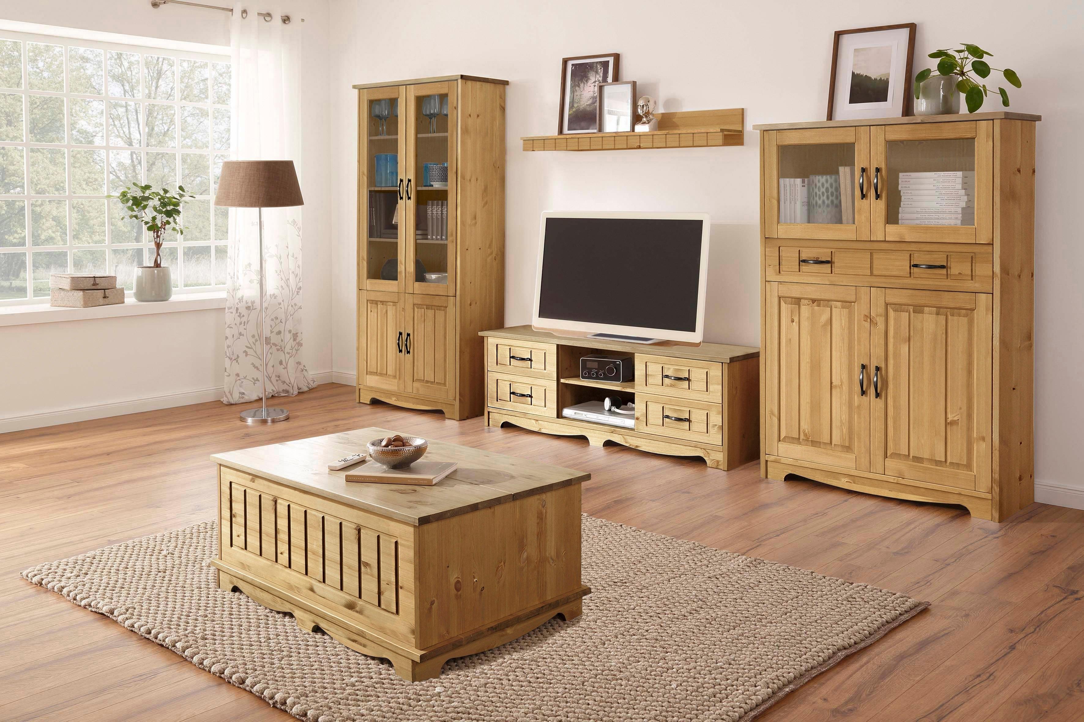 Home affaire wandmeubel Trinidad Set van 1 vitrinekast, 1 tv-meubel, 1 highboard, 1 wandboard (set, 4 stuks) - gratis ruilen op otto.nl