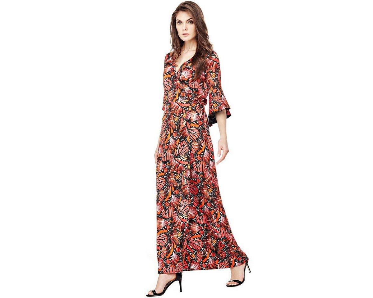 Guess lange jurk mete vlinderprint rood