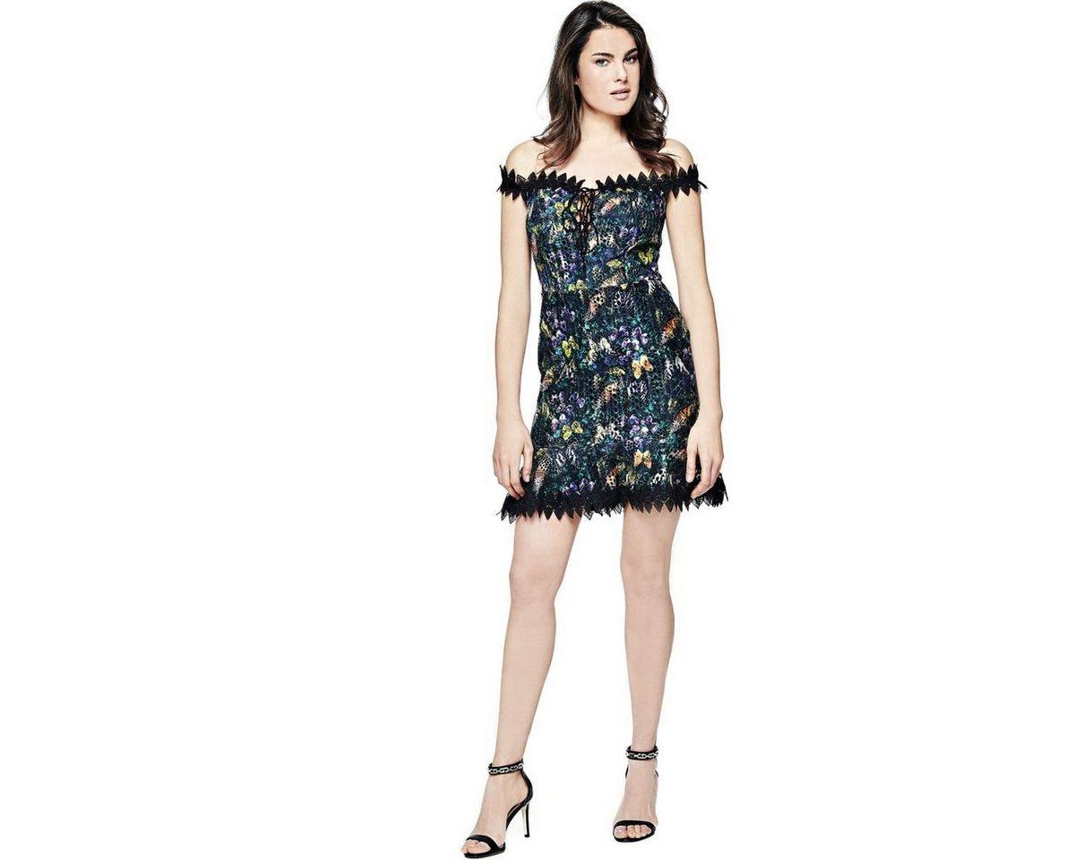 Guess jurk met vlinderprint zwart