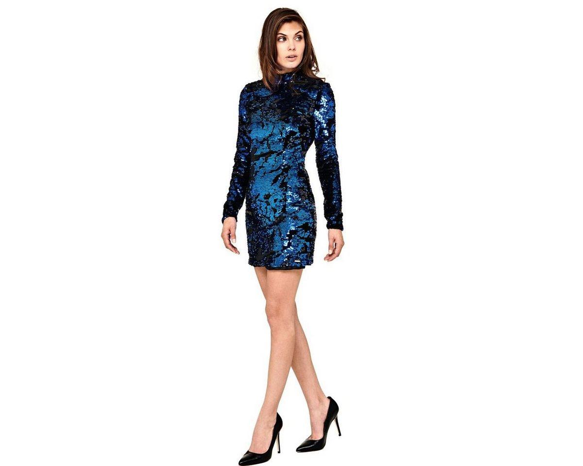 Guess jurk van pailletten blauw