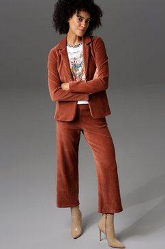 aniston casual jasje met reverskraag bruin