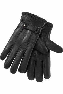 j.jayz leren handschoenen met biezen, ribboordjes, siertrensje (1) zwart