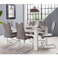 homexperts eethoek zabona 4 stoelen en 1 tafel (set, 5-delig) grijs