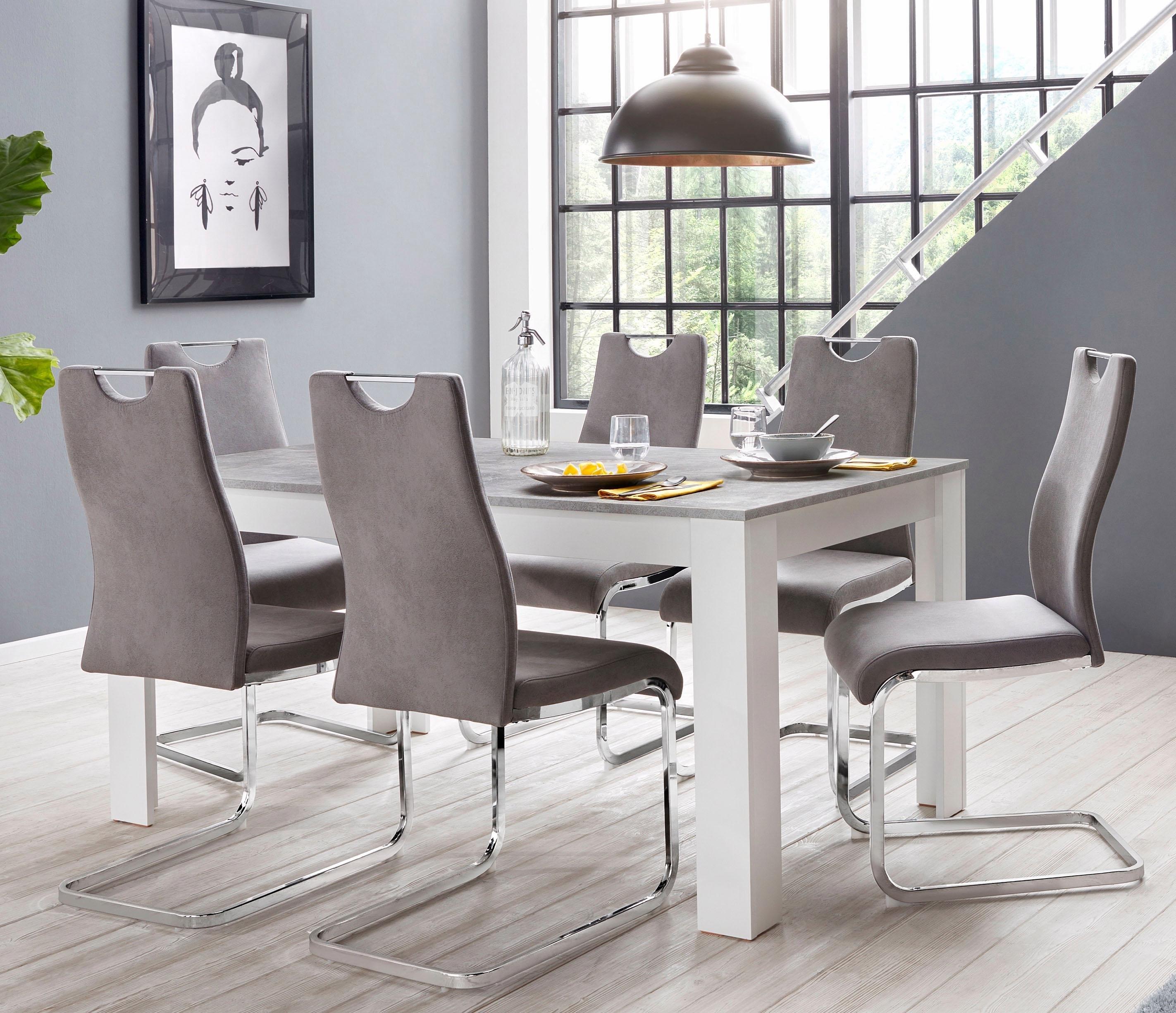 Homexperts eethoek Zabona 4 stoelen en 1 tafel (set, 5-delig) voordelig en veilig online kopen