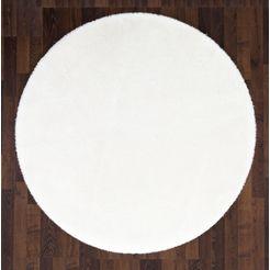 vloerkleed, »lam imitatiebont«, andiamo, rond, hoogte 20 mm, machinaal geweven wit