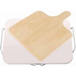 leifheit baksteen inclusief houten schuif (set, 2 stuks) beige