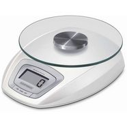 leifheit digitale keukenweegschaal, met led-aanduiding, weegplateau afneembaar wit
