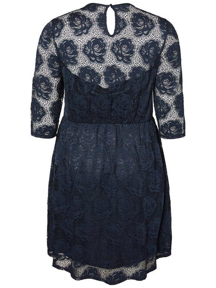 Junarose Geweven jurk blauw
