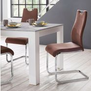 homexperts vrijdragende stoel »zabona« bruin