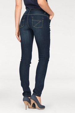arizona slim fit jeans met contrastnaden blauw
