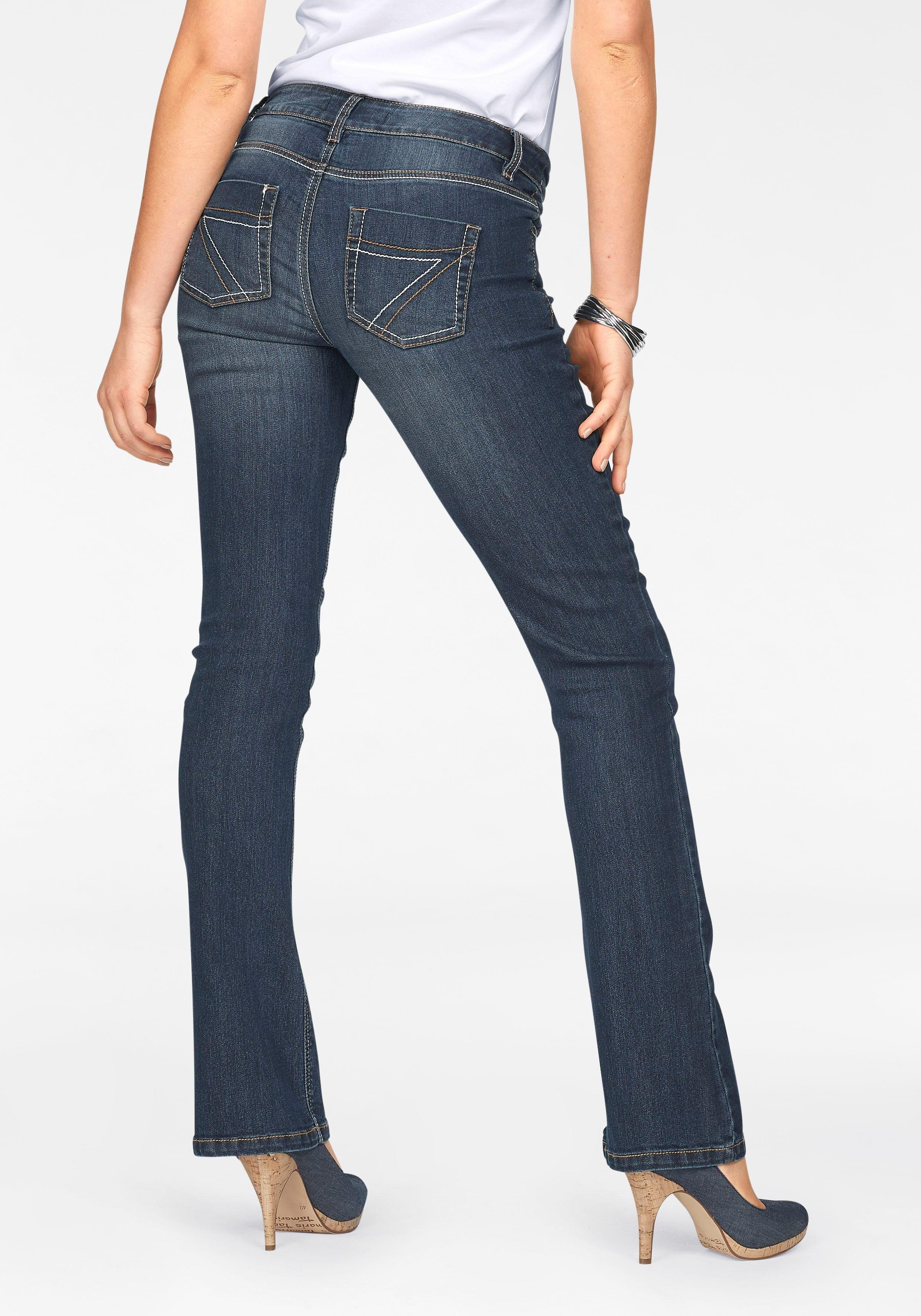 ARIZONA bootcut jeans met contrastnaden online kopen op otto.nl