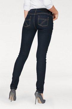 arizona slim fit jeans met contrastnaden blauw