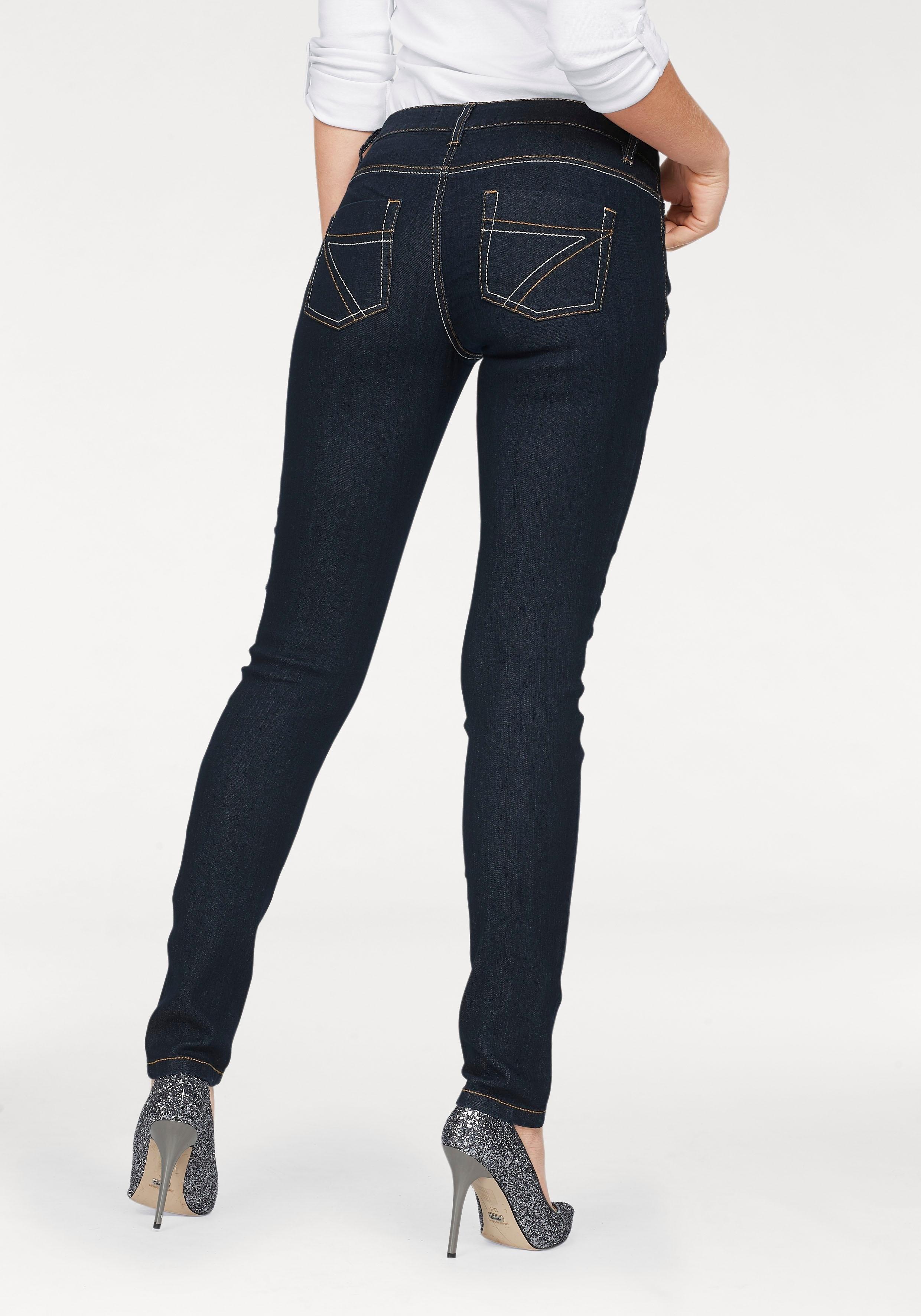 ARIZONA slim fit jeans met contrastnaden online kopen op otto.nl