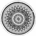 seahorse strandlaken tara met mandala patroon (1 stuk) grijs