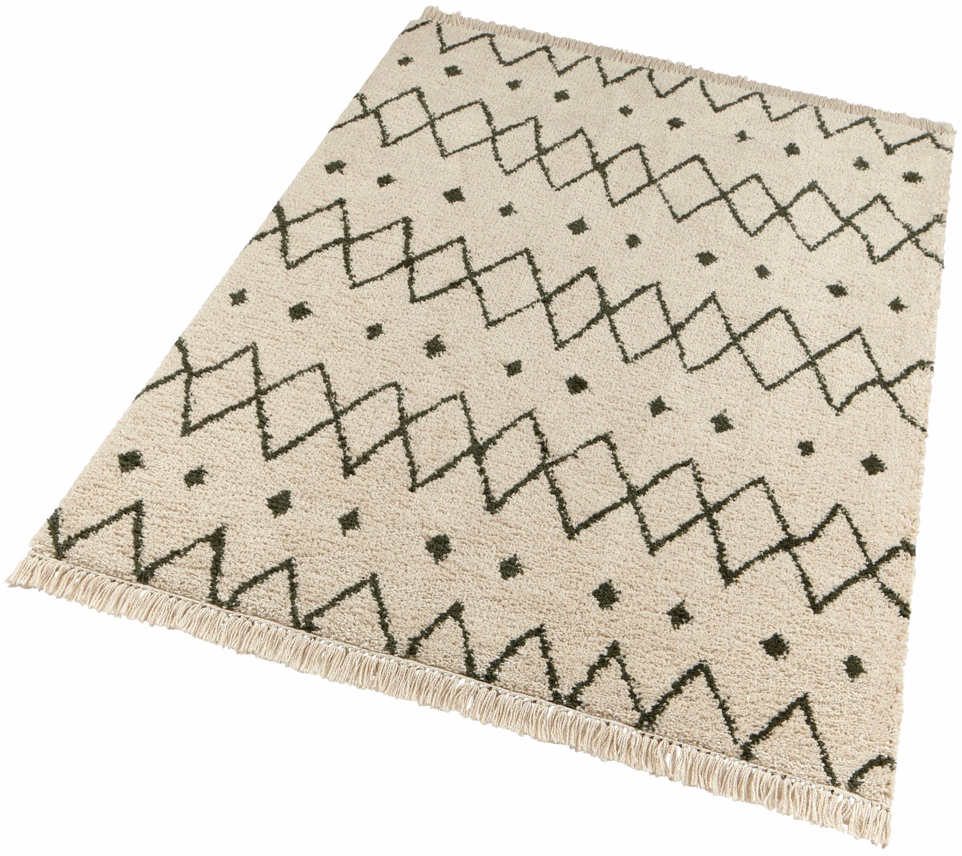 freundin Home Collection hoogpolig vloerkleed Calla met franje, woonkamer nu online kopen bij OTTO