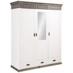 home affaire draaideurkast »vinales« met 3 deuren wit