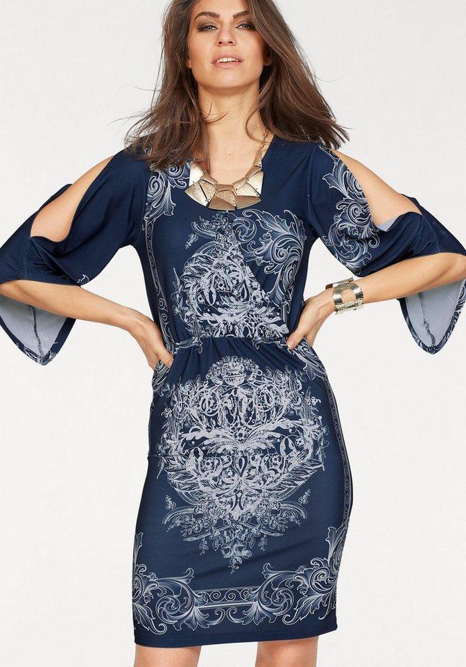 Laura Scott gedessineerde jurk blauw