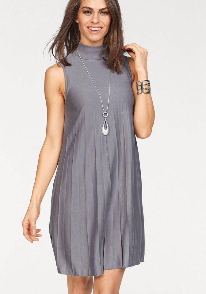 Laura Scott jurk in A-lijn grijs