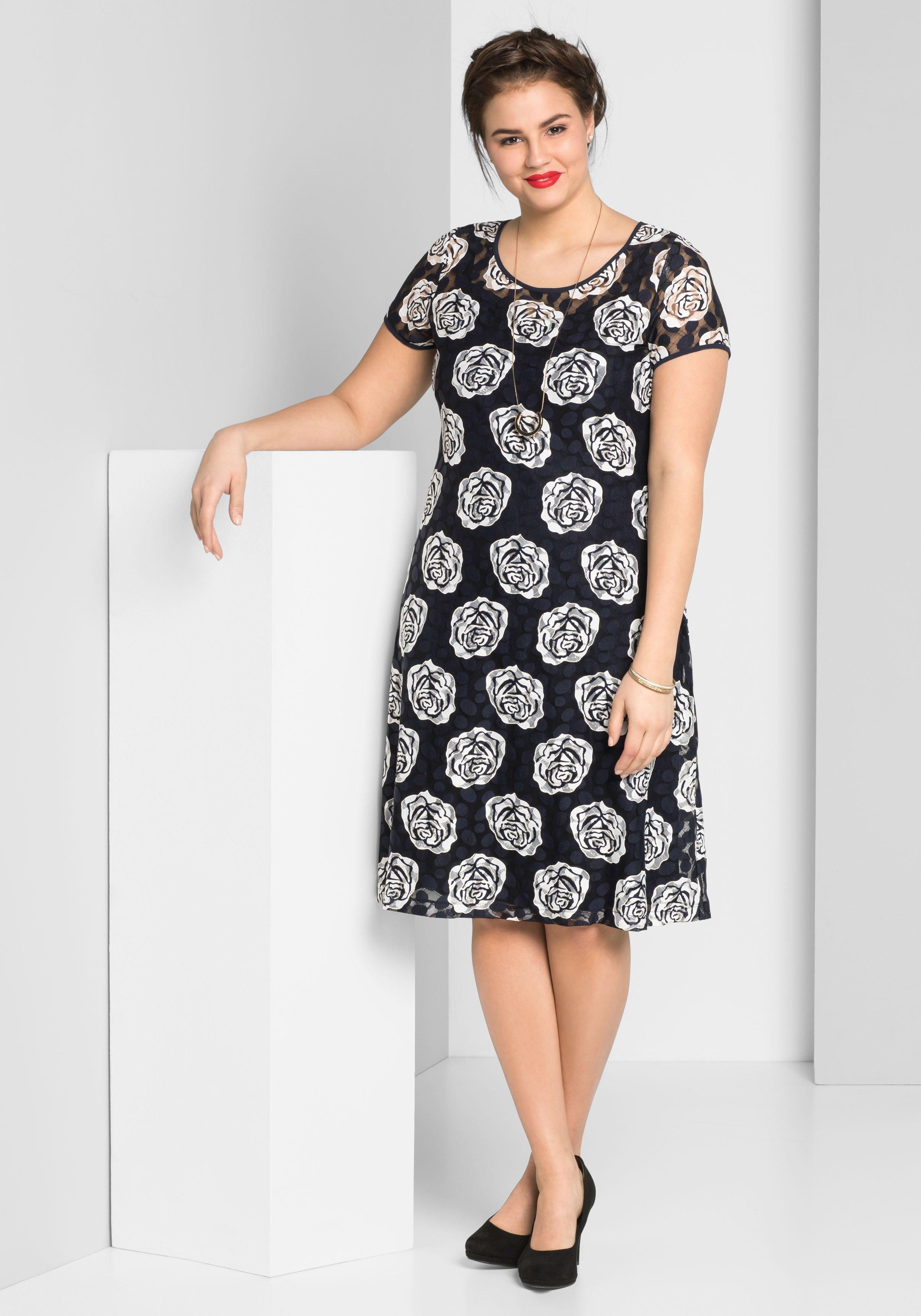 Sheego Style kanten jurk - gratis ruilen op otto.nl