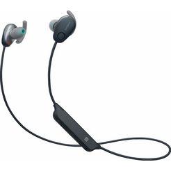 sony »wi-sp600n« in-ear-hoofdtelefoon (bluetooth, nfc, noise-cancelling, ingebouwde microfoon) zwart
