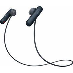 sony sport-hoofdtelefoon wi-sp500 ipx4 waterbestendig, 8 uur lang accucapaciteit zwart