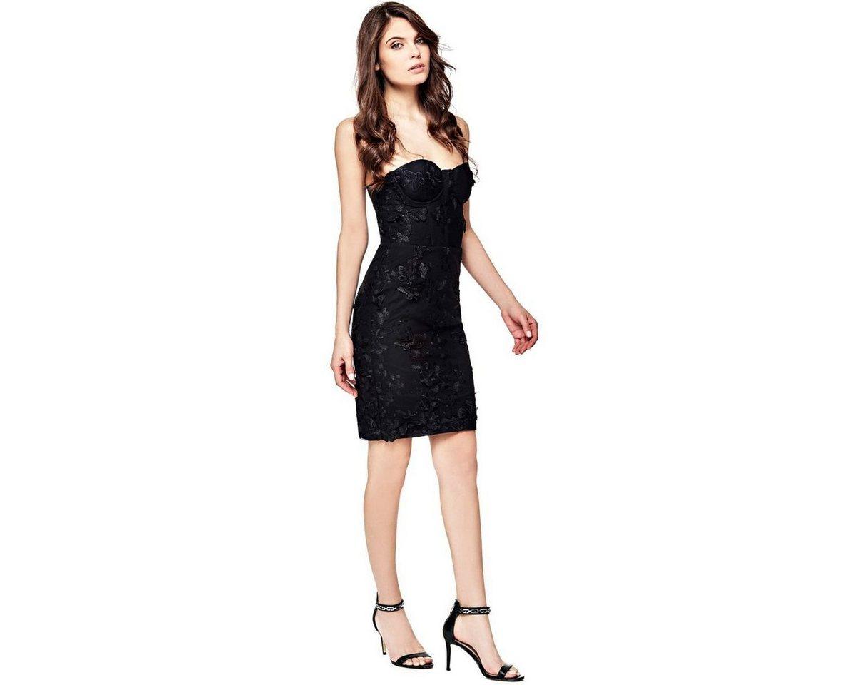 Guess jurk met vlinderdetails zwart