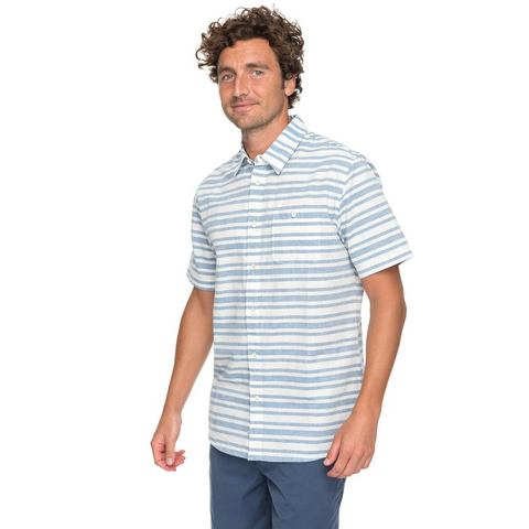 NU 15% KORTING: Quiksilver Overhemd met Korte Mouwen Waterman Flying First