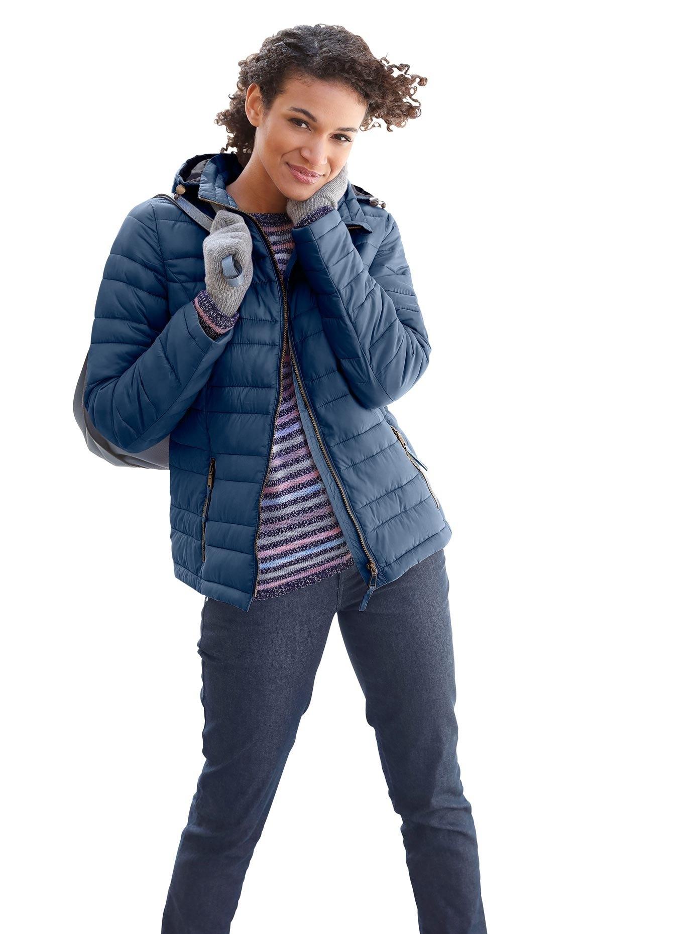 Casual Looks jas met een sportief stikselmotief - verschillende betaalmethodes