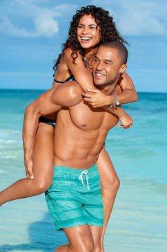 s.oliver red label beachwear zwemshort blauw