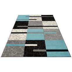 vloerkleed, »lucien«, my home, rechthoekig, hoogte 10 mm, machinaal geweven blauw