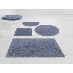 badmat »kapra«, home affaire, hoogte 20 mm, geschikt voor vloerverwarming slijtvast, keerbaar blauw