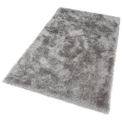 merinos hoogpolig vloerkleed glossy 411 bijzonder zacht door microvezel, woonkamer grijs